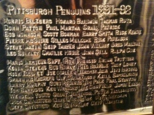 Penguins 1992 Stanley Cup Names